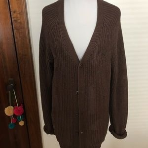 American Apparel size medium brown cardigan